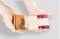 Laconic Mini маленький кошелёк натуральный цвет, кожа растительного дубления