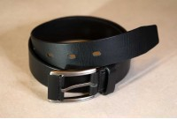 Hand Stitched Leather Belt | Black