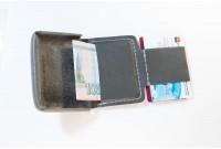 Laconic Mini маленький кошелёк серая кожа