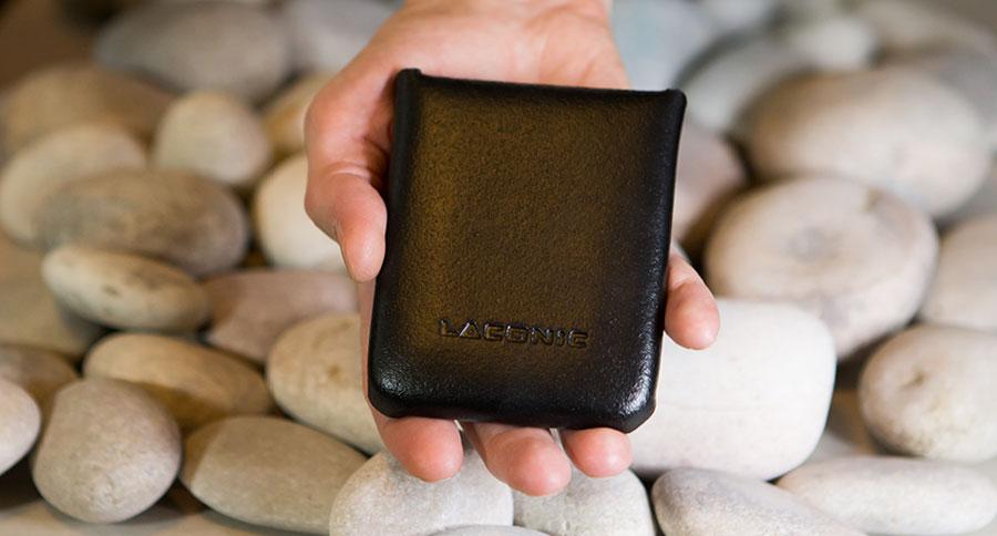 Кожаный бумажник мини