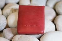 LACONIC SHELL V RED | Тонкий кожаный бумажник красный