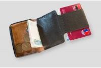 Laconic Mini черный маленький кожаный кошелёк